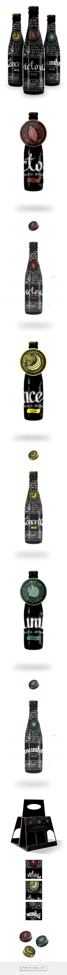 Cerveza Artesanal on Behance curated by Packaging Diva PD. Artesanal beer packaging collection.