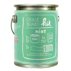Mint chalkboard paint.  Oh my! Available at #downthatlittlelane #dtll