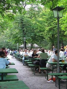 Popular German beer garden Bj rn L czay