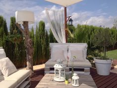 Chill out en el jardin con palets