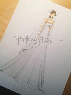 Custom bridal illustration www.brittanyfuson.com