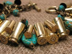 Bullet Casing Jewelry Authentic Mixed Brass 9mm and by thekeyofa