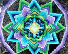 Tenderness of Sunset Mandala Ojo de Dios11 inches от YoleMandalas