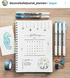 This is such an amazing idea for the bullet journal! Every year I get more organized and I love it! Can't wait to try this idea in my own planner! Bullet Journal Notes, Bullet Journal 2019, Bullet Journal Spread, Bullet Journal Layout, My Journal, Journal Pages, Bujo, Weekly Log, Bullet Journel