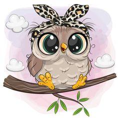 Cute Owl Drawing, Cute Animal Drawings, Cute Drawings, Owl Cartoon, Cute Cartoon, Cartoon Owl Drawing, Owl Art, Bird Art, Owl Clip Art
