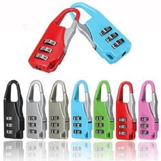 Rely2016 Suitcase Luggage Resettable Code Lock Padlock Security Lock 3 Digit Combinations for Travel Use, Random Color (4) * Visit the image link more details. (This is an affiliate link)