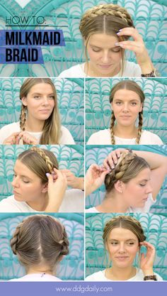 HOW TO MILKMAID BRAID YOUR HAIR IN 4 SIMPLE STEPS