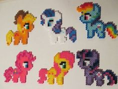 My Little Pony Perler Bead Magnet Set by HouseOfGeekiness