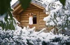 * ♥ * Sauna Saunas, Outdoor Sauna, Wellness Resort, Earthship, House In The Woods, Jacuzzi, Finland, Four Square, Relax