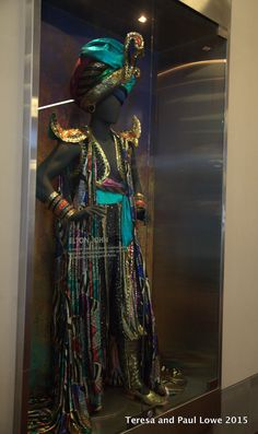 One of Sir Elton John's dazzling performance costumes, designed by Mr. Bob Mackie, on display at the Hard Rock Hotel San Diego.