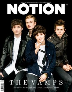 The Vamps Listened to Taylor Swift's for Musical Inspiration: Photo The Vamps are smokin' hot on the cover of Notion magazine's Issue! The guys - Brad Simpson, James McVey, Connor Ball, and Tristan Evans - opened up to… Will Simpson, Brad Simpson, The Vamps 2016, Bae, Pia Mia, Zara Larsson, New Hope Club, Idris Elba, 1d And 5sos