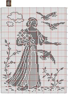 This Pin was discovered by Тат Cross Stitch Bird, Cross Stitch Designs, Cross Stitching, Cross Stitch Embroidery, Embroidery Patterns, Cross Stitch Patterns, Crochet Patterns, Free Cross Stitch Charts, Filet Crochet Charts