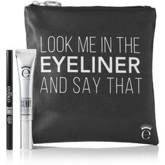 THE OUTNET Beauty Eyeko Look Me In The Eyeliner And Say That Gift Set found on Polyvore featuring beauty products, makeup, eye makeup, eyeliner, travel bag, dop kit, toiletry kits, make up bag and dopp bag