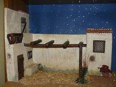 Resultado de imagen de casas para el belen Christmas Crib Ideas, Christmas Costumes, Miniature Fairy Gardens, Diorama, Cribs, Projects To Try, Nativity Scenes, Miniatures, Doll Houses