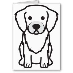 Tibetan Spaniel Dog Cartoon Card
