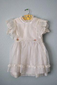 vintage girl white Easter dress
