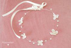 Haarschmuck & Kopfputz - Diadem Perlen Hochzeit *Felina* - ein Designerstück von Kranzverliebt bei DaWanda