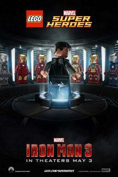 Iron Man 3 - Poster versión LEGO
