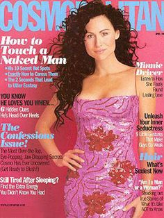 April 2000 cover with Minnie Driver Disney Princess Memes, Minnie Driver, Lasting Love, Cosmopolitan Magazine, Cover Model, Covergirl, Celebs, Actresses, Female