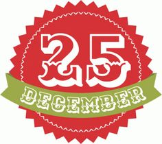 Silhouette Design Store - View Design #49186: 25th of december