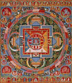 Mandala of Jnanadakini, late 14th century  Tibet (a Sakya monastery)  Distemper on cloth