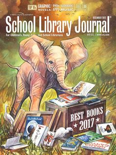 Our December Best Books issue and another stellar year in publishing for children and teens. Per tradition, a children's book illustrator is approached to do our cover, given free rein on the theme of stars. Katherine Roy, author and illustrator of How to Be an Elephant, was thrilled to get the assignment, and we were thrilled at the result.