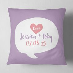 Love Speech Bubble Personalised Cushion