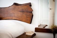 Consider white color whenever you esteem silence. The natural shape of the wood makes the bedroom furniture exceptionally stunning. Allow yourself to relax in the end of the day and in the morning open your eyes with the real pleasure. Bed made of walnut. Huge storage box inside. Massive sides of the bed are used as roomy bedside tables. Finished with waxes and natural dyes of the highest quality. Manually polished surface guarantees great comfort.
