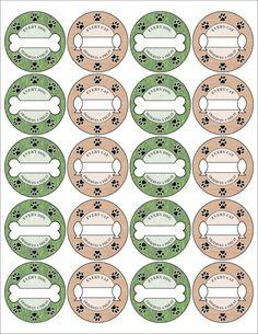 Labels for your pets cookies, Mason Jar labels Canning Jar Labels, Dog Treat Jar, Dog Bakery, Puppy Treats, Dog Cookies, Dog Crafts, Homemade Dog Treats, Printable Labels, Printables