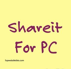 You can Download and Install Shareit For PC. It is an easy task to Download and…