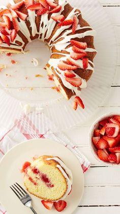 This fun poke Bundt cake puts an entirely new spin on strawberry shortcake! Topped with a bowl-licking-good cream cheese glaze and filled with fresh strawberry flavor, this shortcut cake is as impressive as it is easy.