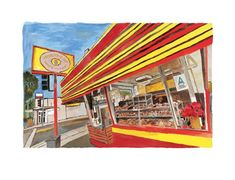 Bob Dylan Donut Shop, 2016 Giclee print on paper. Signed by Bob Dylan, in margin… – Bob Dylan art – Donuts Bob Dylan Art, Donut Shop, His Travel, Sign Printing, Donuts, Giclee Print, Fine Art, Gallery, Hundertwasser