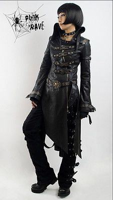 fashion punk gothic lolita jacket rock coat blazer Japan fashion Free ship