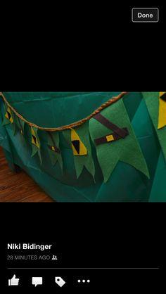 Felt Legend of Zelda Banner Birthday
