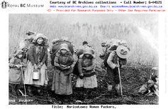 Aboriginal woman packers in Cariboo