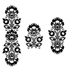Find Folk Embroidery Floral Traditional Polish Pattern stock images in HD and millions of other royalty-free stock photos, illustrations and vectors in the Shutterstock collection. Thousands of new, high-quality pictures added every day. Hungarian Embroidery, Folk Embroidery, Learn Embroidery, Floral Embroidery, Embroidery Patterns, Tigh Tattoo, Slavic Tattoo, Tattoo Fleur, Bordado Popular