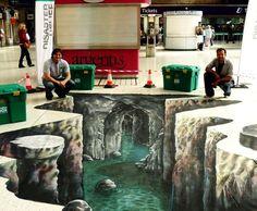 33 Brain-Melting Works Of 3-D Sidewalk Chalk Art : Joe Hill / Via joehill-art.com : http://joehill-art.com/index.htm
