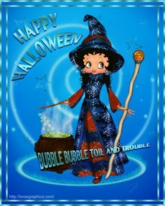 Bb Halloween And More, Holidays Halloween, Happy Halloween, Halloween Ideas, Betty Boop Halloween, Betty Boop Pictures, The Good Witch, Pin Up, Artwork