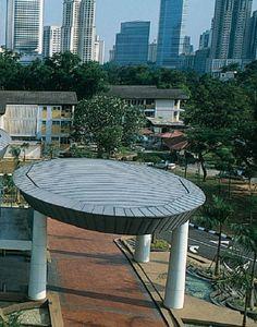 Felda Auditorium (Malaysia) by BEP Akitek   #VMZINC #Architecture #QUARTZZINC #Roofing #CulturalBuilding #Malaysia #Asia #Zinc