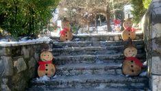 wooden snowmen!!