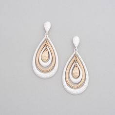 Satin Drop Pierced Earrings