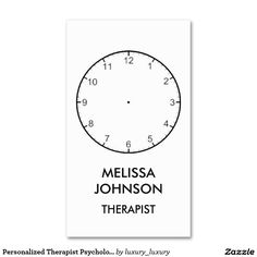 Personalized Therapist Psychologist Business Cart Pack Of Standard Business Cards
