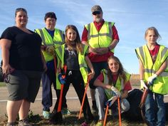 Youth and adult volunteers with TOPS Inc. in Litchfield, NE took part in litter pickup along their highway to not only beautify the town, but also promote healthy lifestyle and exercise.