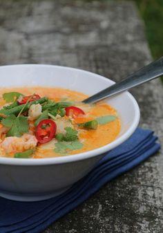Thaisuppe med torsk og reker
