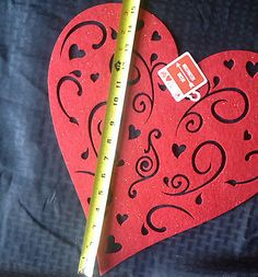 Lg Felt Valentines Day Decoration : Heart or Rose : Placemat, table/wall decor
