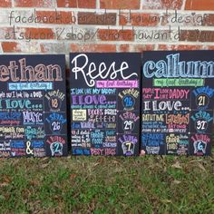 Love! Birthday posters for first birthday photo shoot, then to display at party, then hang in room!