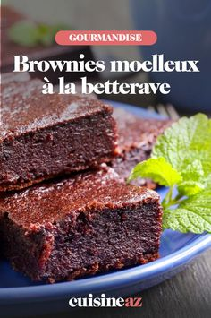 Une recette originale de brownies moelleux à la betterave rouge! #recette#cuisine #patisserie #brownies #betterave