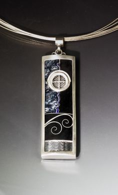 Beautiful enamel pendant from the   JAMES CARTER STUDIO  http://www.jamescarterstudio.com/
