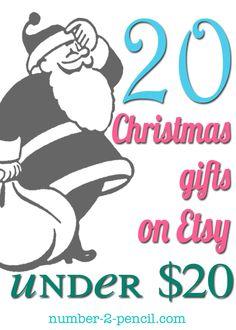 Twenty gifts under twenty dollars. Something for everyone on this list!
