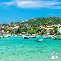 A famosa Saint-Tropez Brasileira tem nome e endereço: Búzios, Rio de Janeiro! Com mais de 150 estabelecimentos gastronômicos, essa cidade litorânea é um destino obrigatório para qualquer amante do mar! #CurtaOBrasil #AmoViajar #Viagens #ClubeTurismo